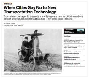 When Cities Say No to New Transportation Technology